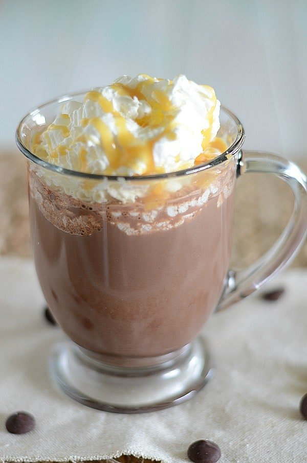 Make your own Dunkin Donuts Salted Caramel Hot Chocolate at home with this copycat recipe.