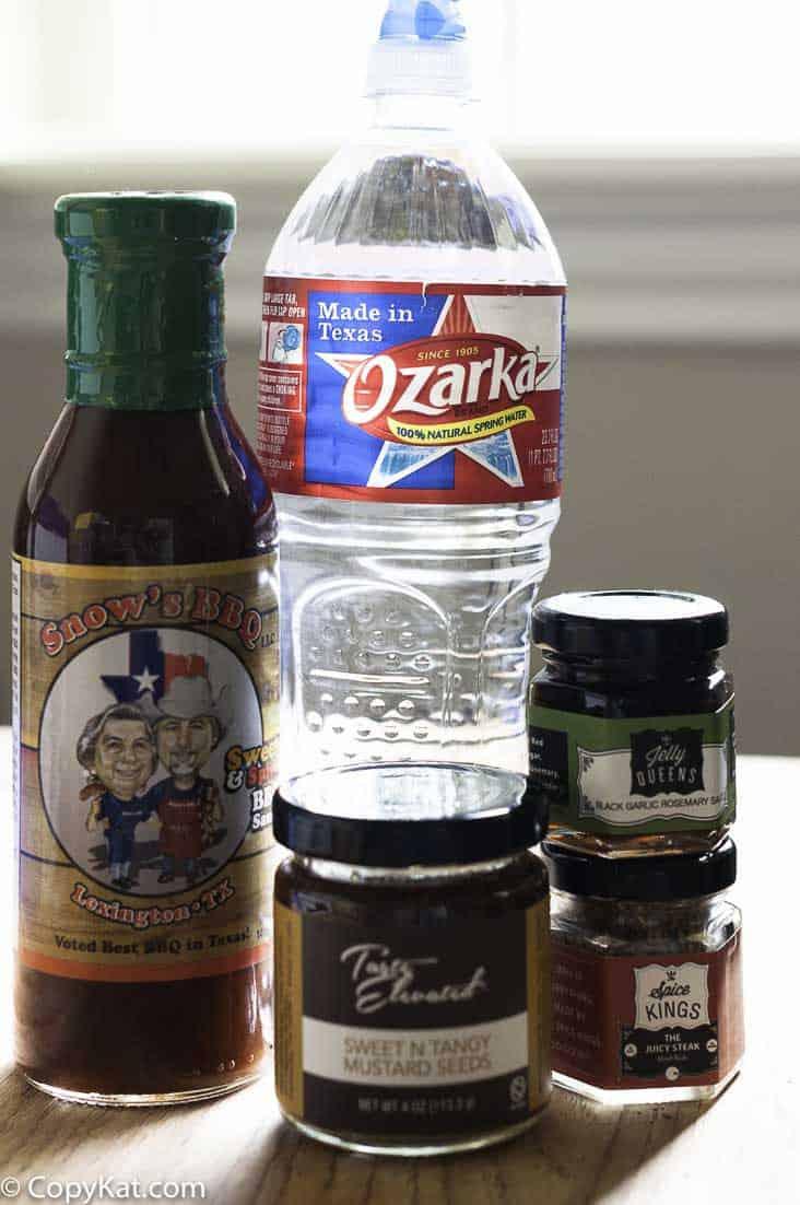Favorite Texan ingredients with Ozarka water.