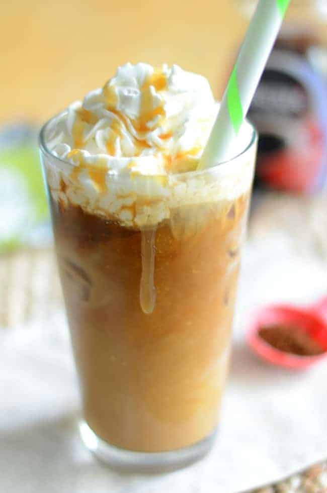 Make your own delicious Starbucks Iced Coconut Mocha Macchiato with this easy copycat recipe.