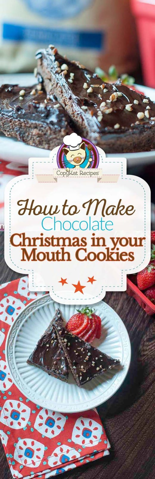 Make these delicious chocolate orange bar cookies, they taste like Christmas in your mouth!