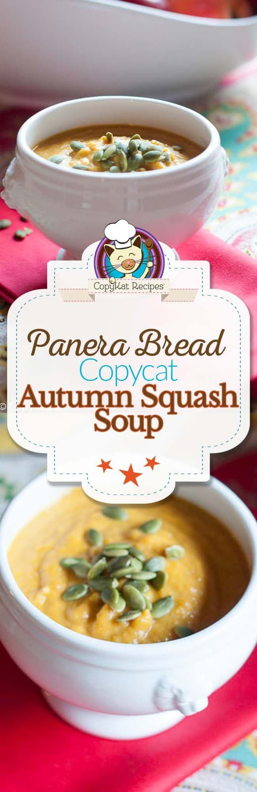Try making your own copycat version of the Panera Bread Autumn Squash Soup.