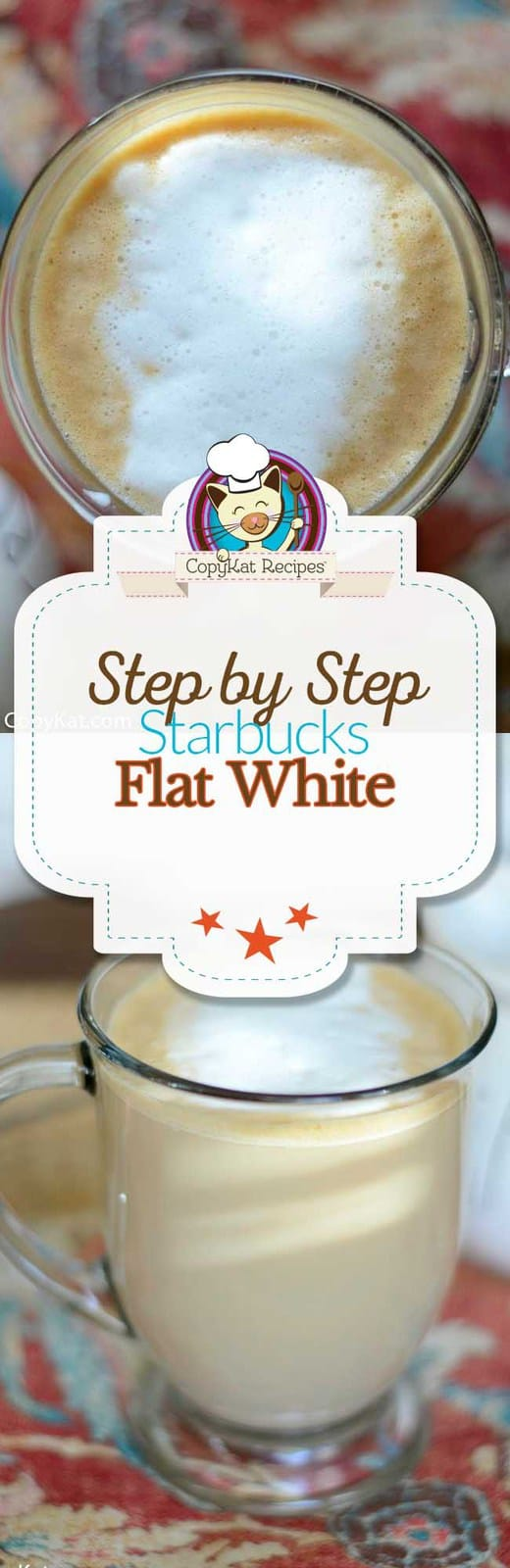 Make your own delicious copycat Starbucks Flat White with this step by step recipe.