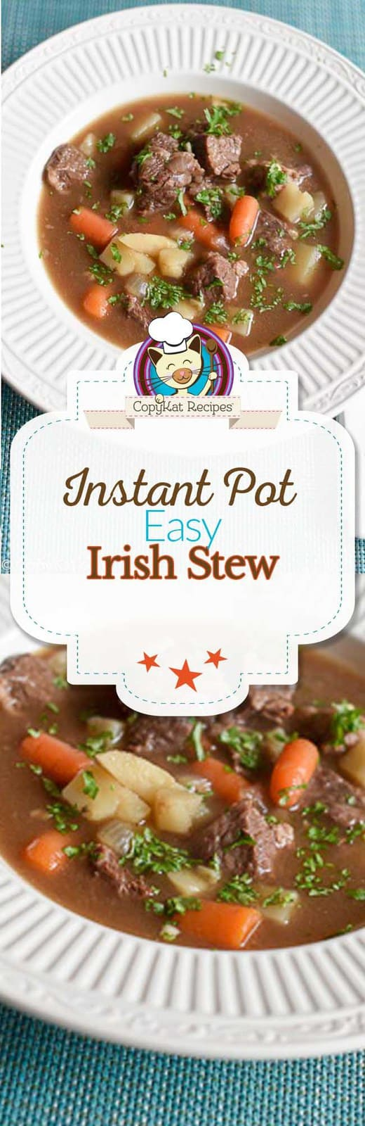 Make delicious Irish Stew in your Instant Pot.  This stew is so easy to make, and the beef is so tender.