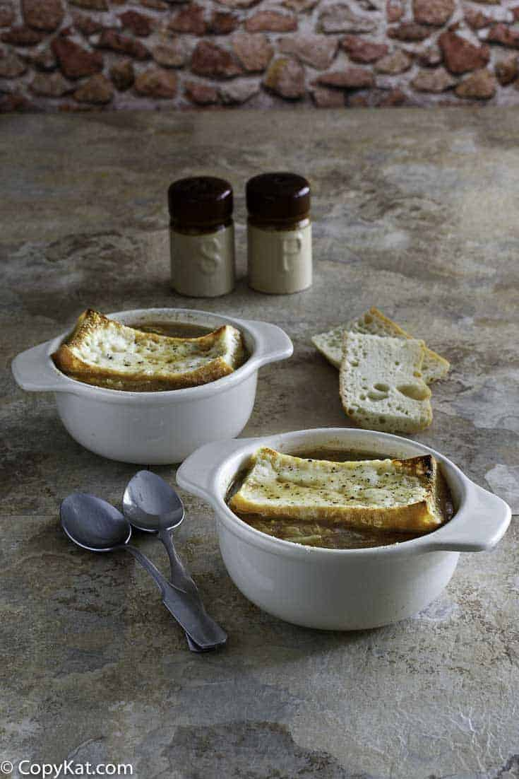 You can recreate Applebees French Onion Soup at home with this easy copycat recipe.