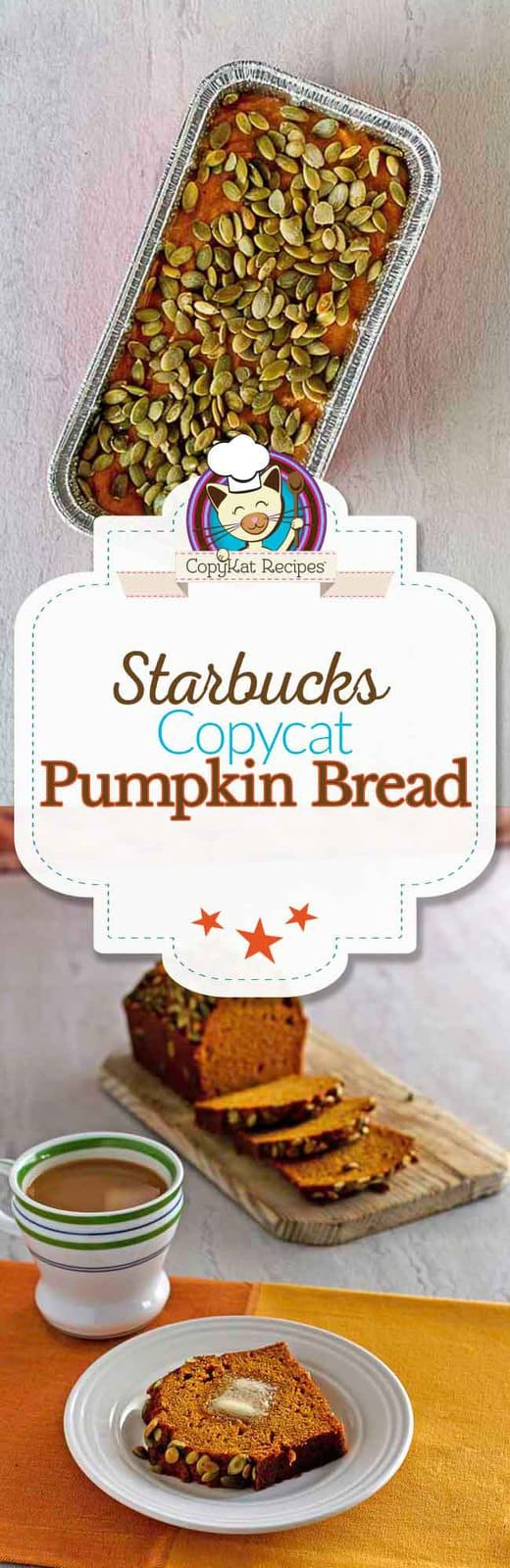 Make your own loaf of Starbucks Pumpkin bread at home, it tastes jut like it does in the store.