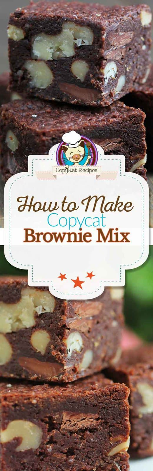 Make homemade brownie mix for the best brownies ever.