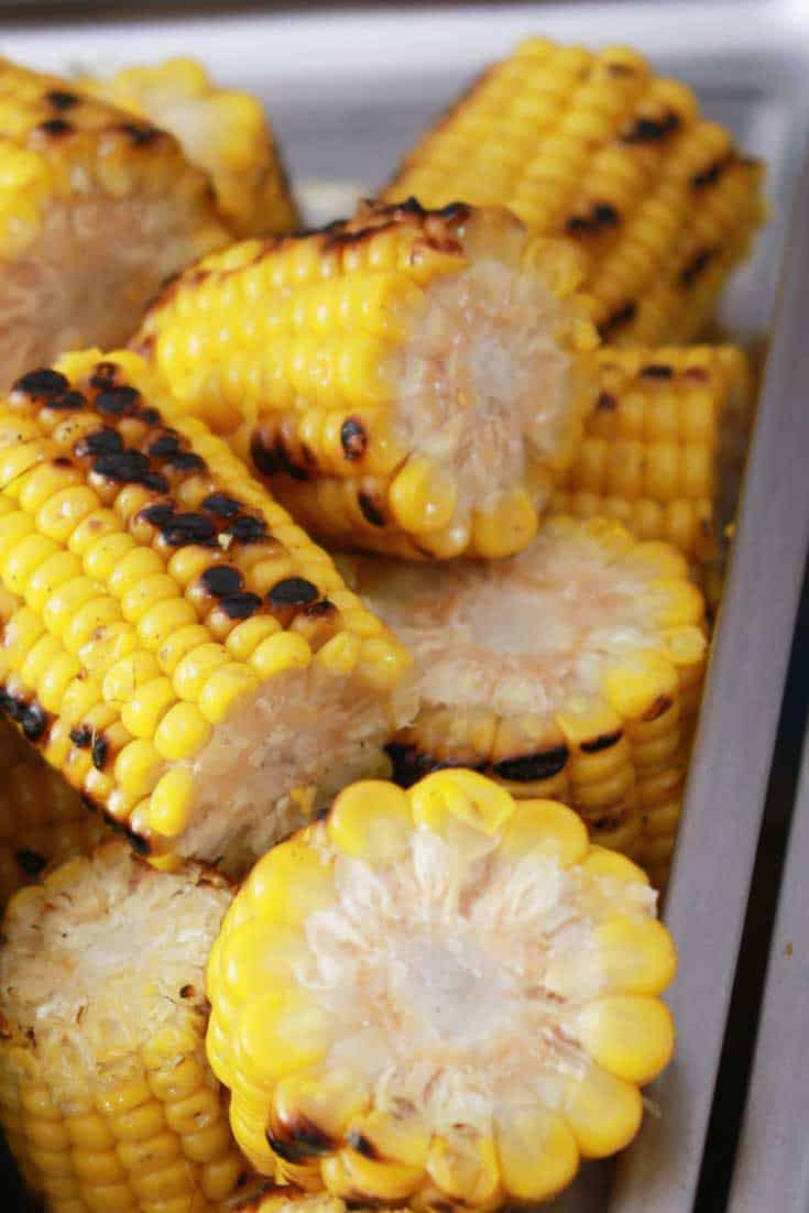 Sweet corn roasted in an air fryer tastes wonderful.   Use your air fryer in a new way.