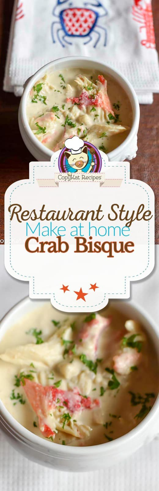 Make restaurant style crab bisque at home, you can have restaurant flavors at home.