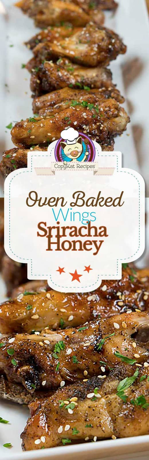 You can make super crispy Sriracha honey wings in the oven.   You won't guess what the secret ingredient is.