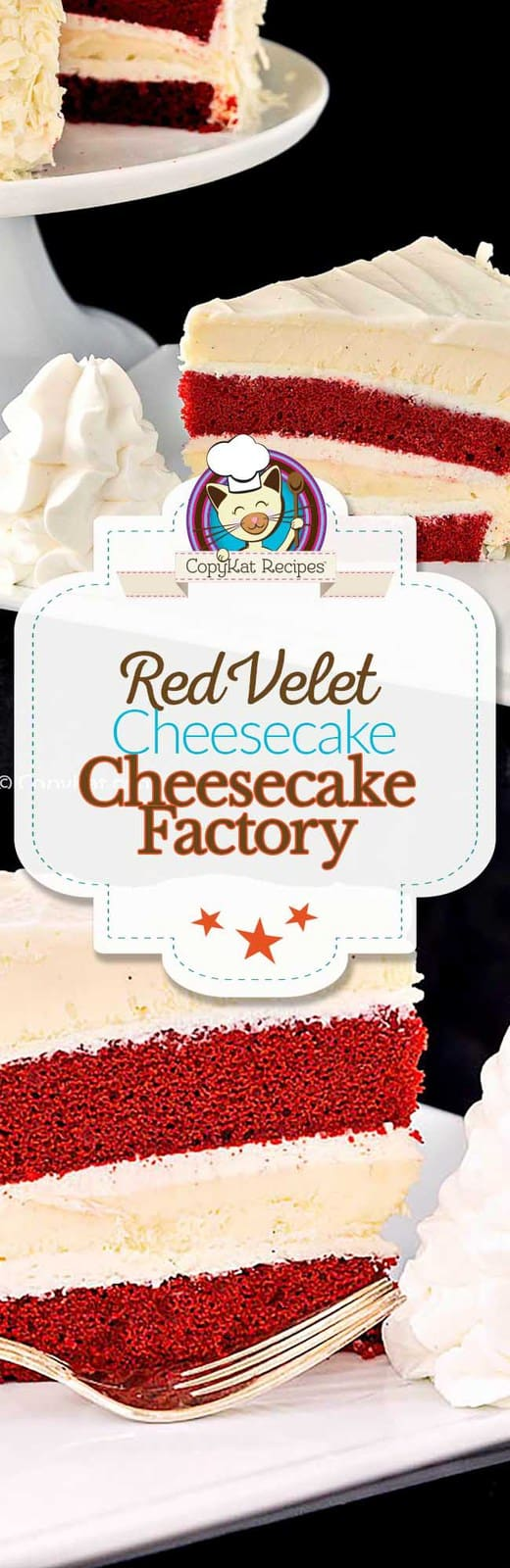 You can recreate these Cheesecake Factory Red Velvet Cheesecake at home with this copycat recipe.