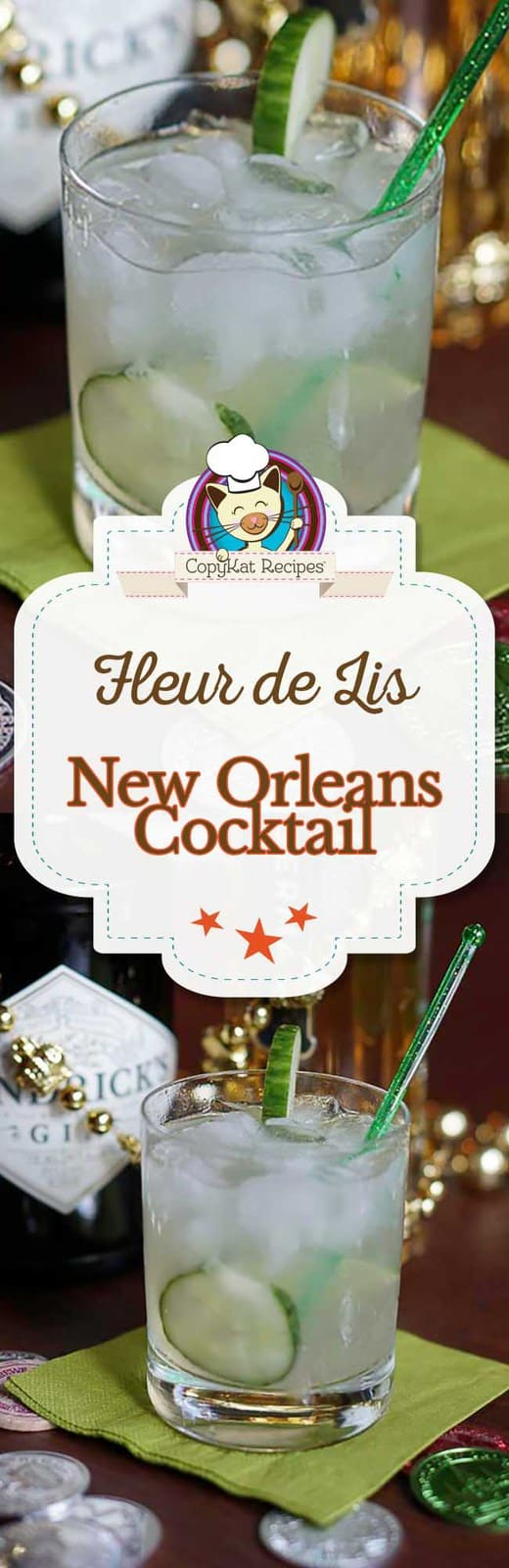 You can prepare the Fleur de Lis cocktail with this easy recipe.  The Fleur de Lis is a refreshing gin-based cocktail that is perfect for summer.