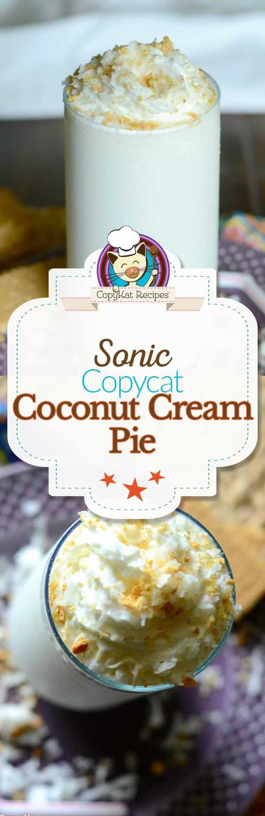 You can recreate a wonderful recipe for Sonic Coconut Cream Pie shake at home.