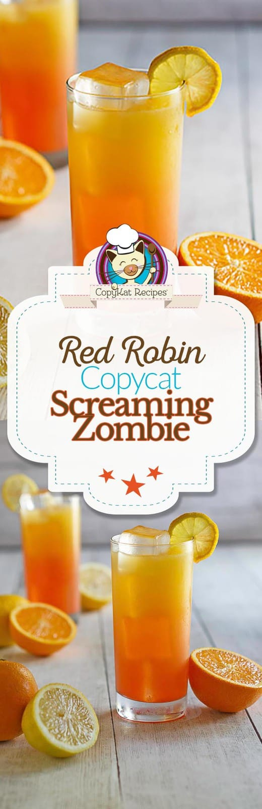 Screaming Zombie Drink Red Robin