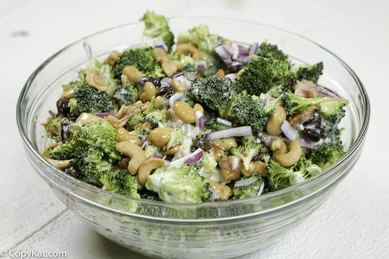 You can make your own version of Sweet Tomatoes Joan's Broccoli Salad at home with this easy copycat recipe.