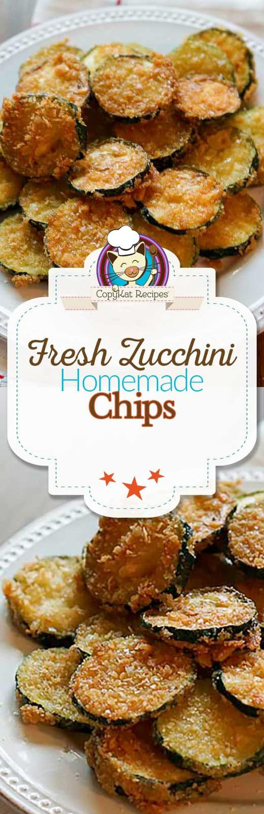 Make your own fresh zucchini fried chips.  This recipe has just 3 ingredients.