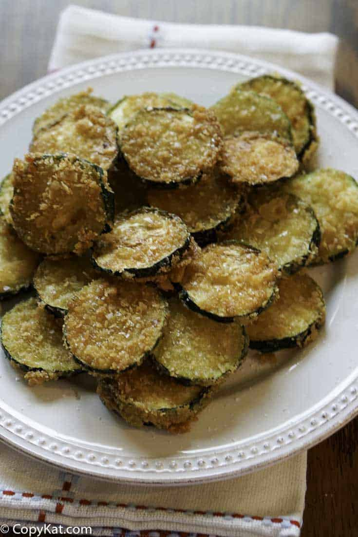 Fried Zucchini Chips are a great appetizer or side dish.   This is a great way to use up fresh zucchini.