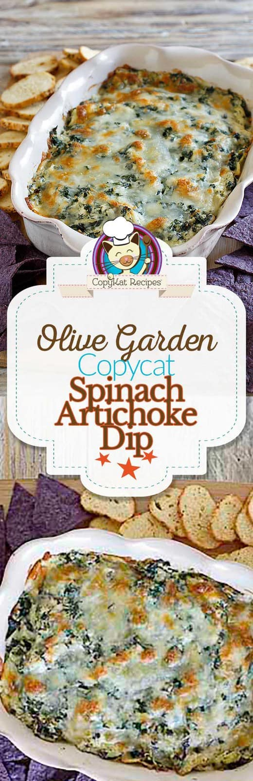 You can recreate the Olive Garden Spinach-Artichoke Dip at home with this easy copycat recipe.