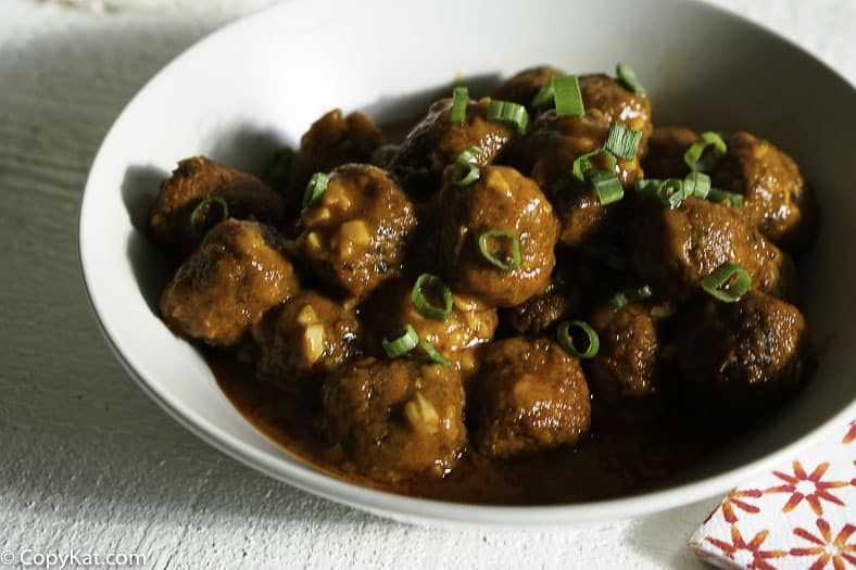 Enjoy buffalo style meatballs at your next party with this easy recipe.