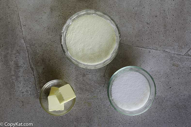 Want to make Sweetened condensed milk?  The main ingredients are powdered milk, softened butter, and sugar.