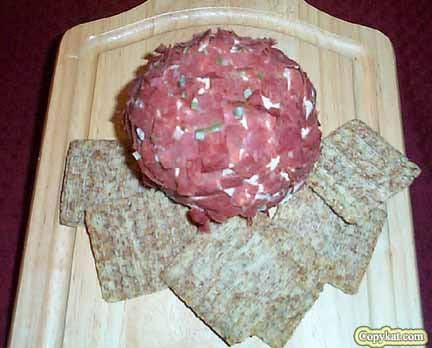 Meaty cheese ball
