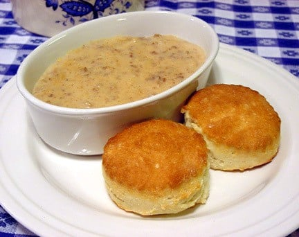 Biscuts and sausage gravy