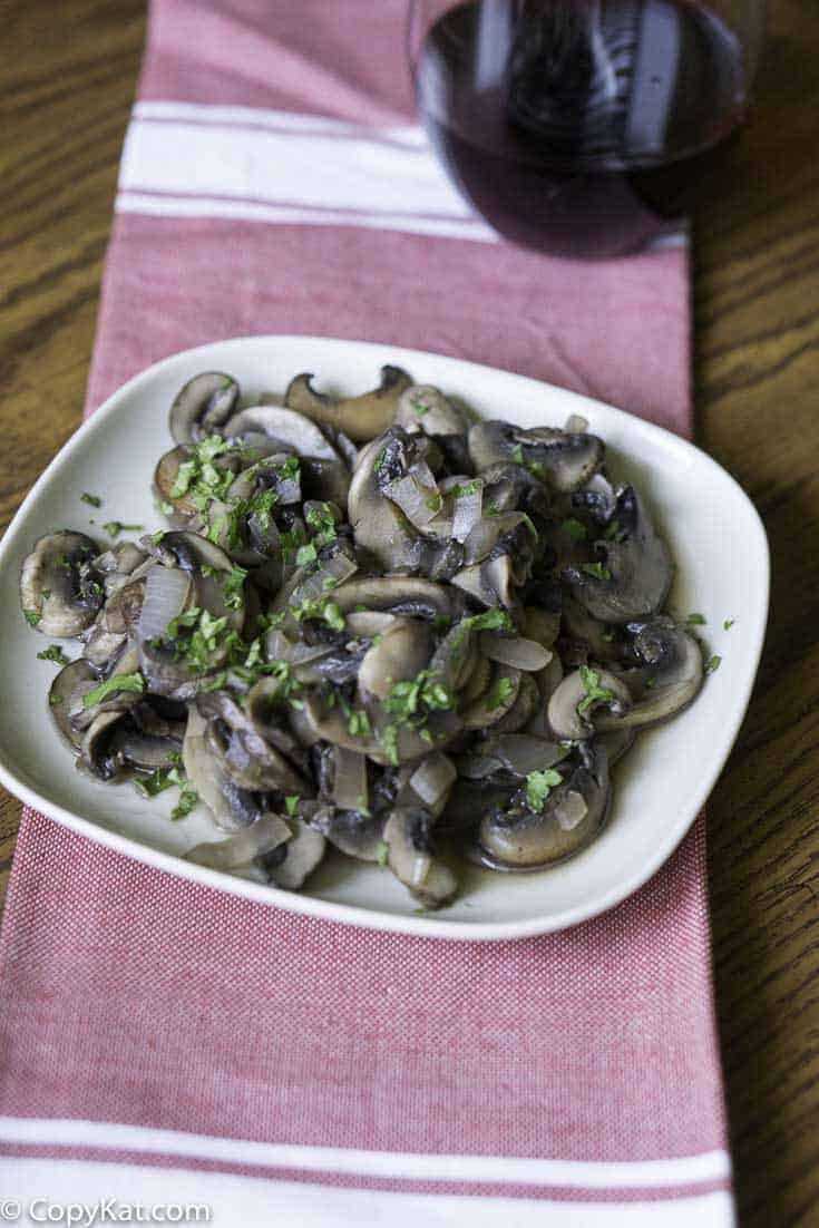 Recreate the Outback Steakhouse Sauteed mushrooms at home with this easy copycat recipe.