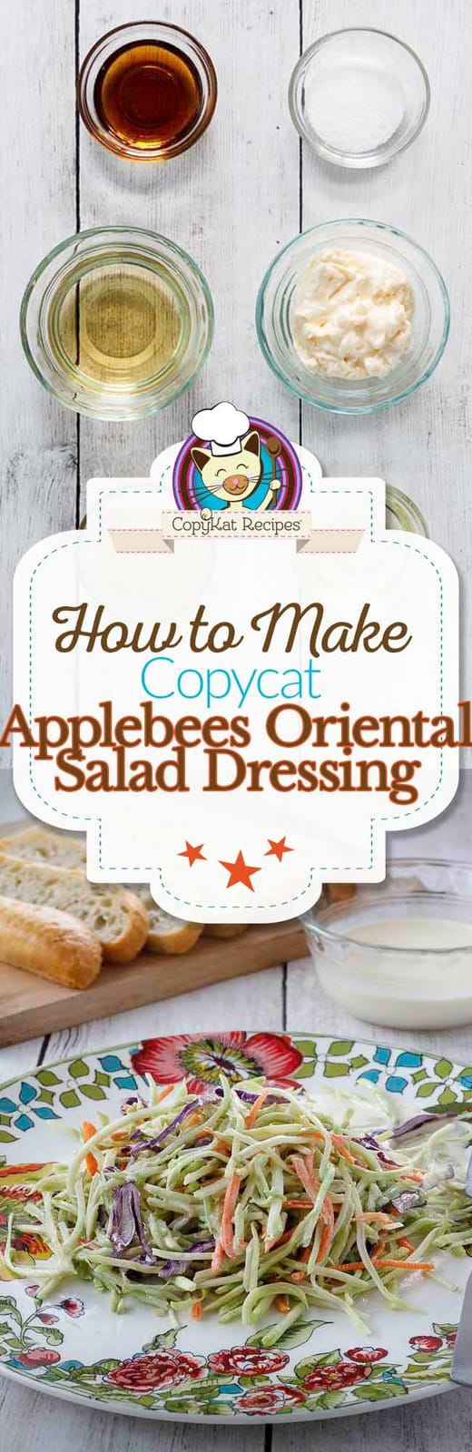 Applebees Oriental Salad Dressing - you can make this at home with ingredients you have around your house.