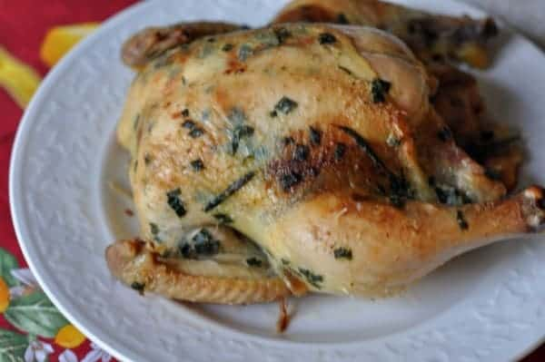 recipe for baked chicken on a plate
