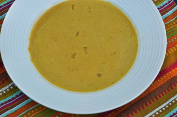 bowl of curried pumpkin bisque soup