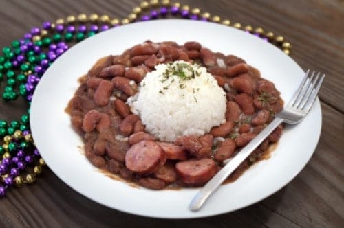 bowl of red beans
