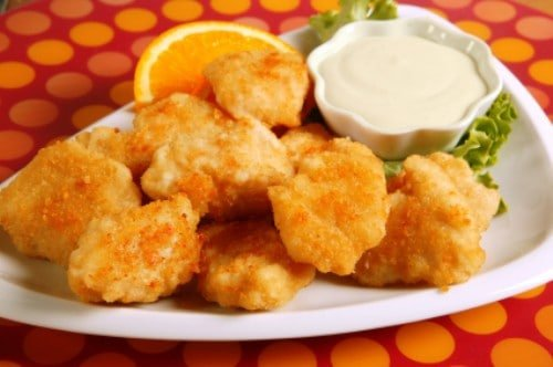 chicken nuggets on a plate