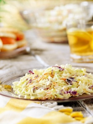 plate of cole slaw