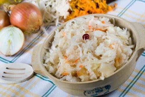 bowl of kraut salad