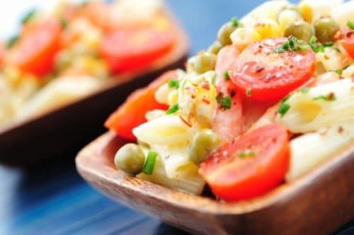 pasta salad in dish