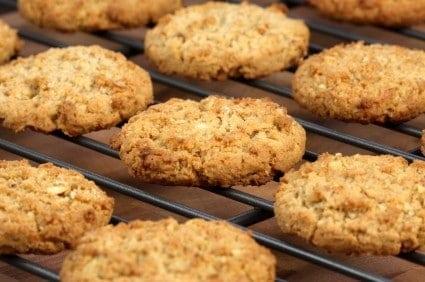 oatmeal cookies on a rack