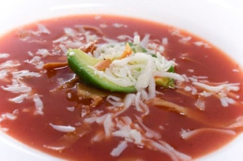 bowl of jalapeno and cilantro soup