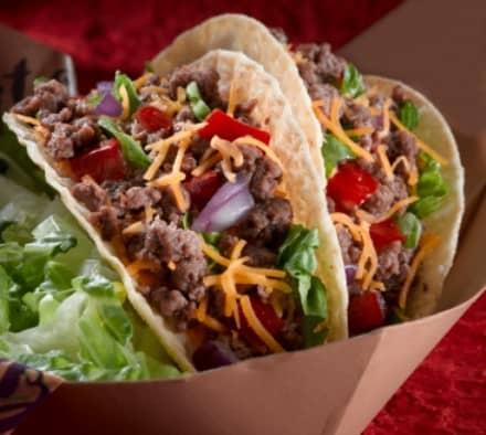 tacos made with taco seasoning mix