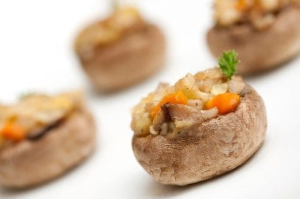 vegetable stuffed mushroom recipe