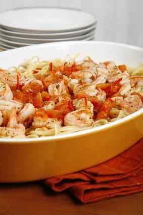 dish of shrimp scampi