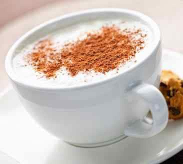 white hot chocolate with nutmeg