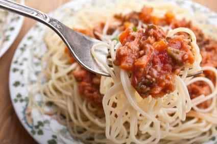 bolognese and spaghetti