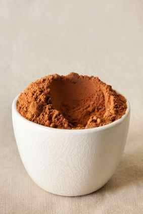 cocoa powder for sand art brownies