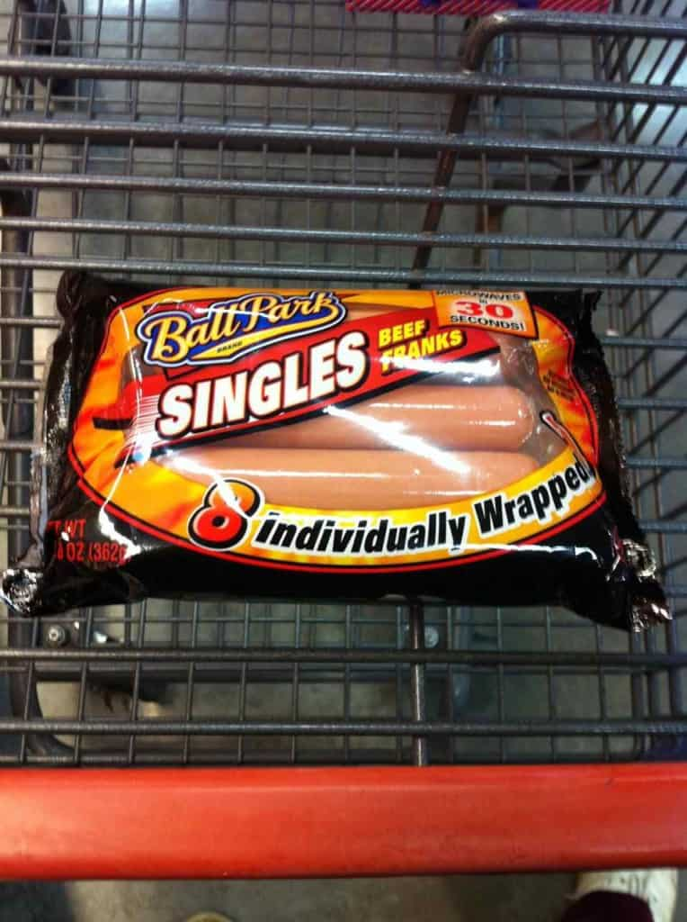 individually wrapped hot dogs