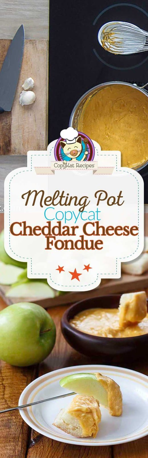 Step by Step instructions on how to make the Melting Pot Cheddar Cheese Fondue. #cheese #fondue #sauce #copycat
