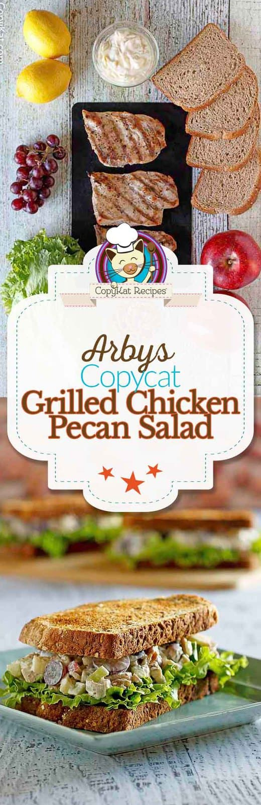 You can recreate the Arby's Grilled Chicken Pecan salad from scratch with this easy copycat recipe. #copycat #copycatrecipe #chicken #arbys
