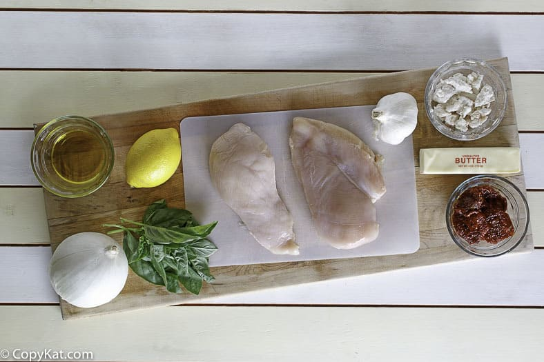 Make Carrabbas Chicken Bryan with these easy to find ingredients.