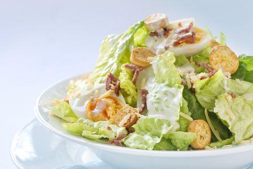 salad with caesar salad dressing