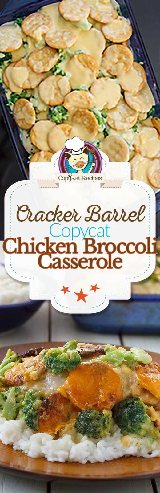 Make you own Cracker Barrel Broccoli Cheddar Chicken casserole at home with this copycat recipe.