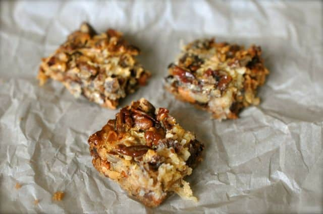 These cookies are also known as Seven Layer Bar Cookies