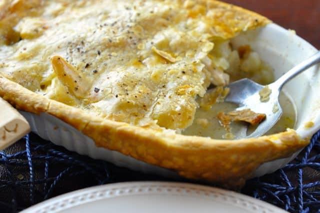 chicken pot pie made with frozen vegetables